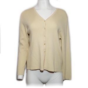 Laura Scott Silk Cardigan Sweater